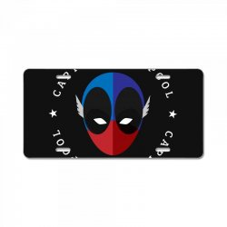 captain deadpool funny License Plate | Artistshot