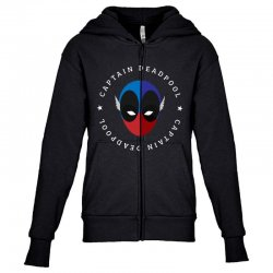 captain deadpool funny Youth Zipper Hoodie | Artistshot