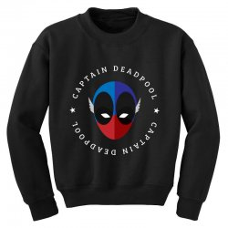 captain deadpool funny Youth Sweatshirt | Artistshot