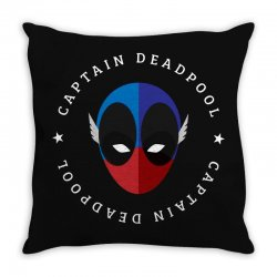 captain deadpool funny Throw Pillow | Artistshot