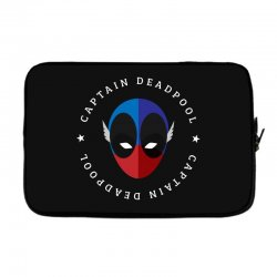 captain deadpool funny Laptop sleeve | Artistshot