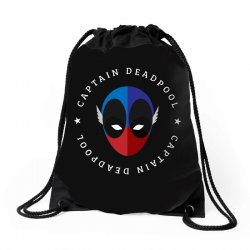 captain deadpool funny Drawstring Bags | Artistshot