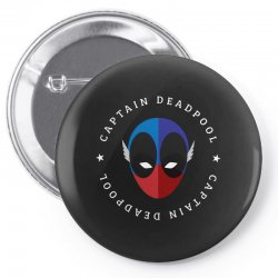 captain deadpool funny Pin-back button | Artistshot