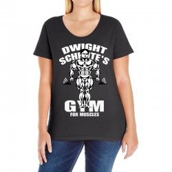 dwight schrute's gym for muscles Ladies Curvy T-Shirt   Artistshot