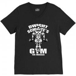 dwight schrute's gym for muscles V-Neck Tee   Artistshot