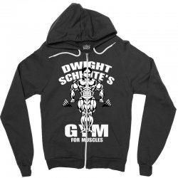 dwight schrute's gym for muscles Zipper Hoodie   Artistshot