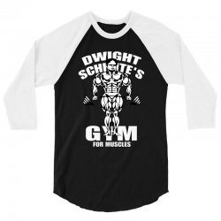 dwight schrute's gym for muscles 3/4 Sleeve Shirt   Artistshot