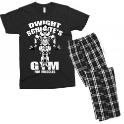 dwight schrute's gym for muscles Men's T-shirt Pajama Set   Artistshot