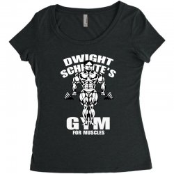 dwight schrute's gym for muscles Women's Triblend Scoop T-shirt   Artistshot