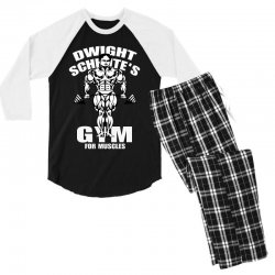 dwight schrute's gym for muscles Men's 3/4 Sleeve Pajama Set   Artistshot