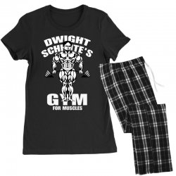 dwight schrute's gym for muscles Women's Pajamas Set   Artistshot