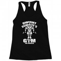 dwight schrute's gym for muscles Racerback Tank   Artistshot