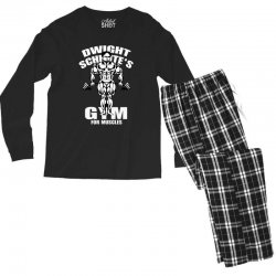 dwight schrute's gym for muscles Men's Long Sleeve Pajama Set   Artistshot