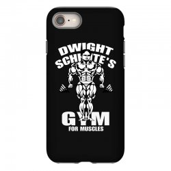 dwight schrute's gym for muscles iPhone 8 Case   Artistshot