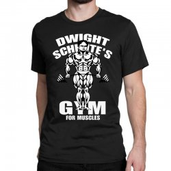 dwight schrute's gym for muscles Classic T-shirt   Artistshot