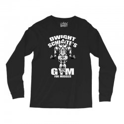 dwight schrute's gym for muscles Long Sleeve Shirts   Artistshot
