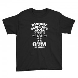 dwight schrute's gym for muscles Youth Tee   Artistshot