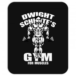 dwight schrute's gym for muscles Mousepad   Artistshot