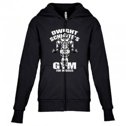 dwight schrute's gym for muscles Youth Zipper Hoodie   Artistshot