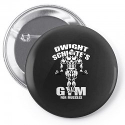 dwight schrute's gym for muscles Pin-back button   Artistshot