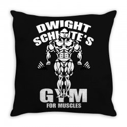 dwight schrute's gym for muscles Throw Pillow   Artistshot