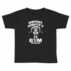 dwight schrute's gym for muscles Toddler T-shirt   Artistshot