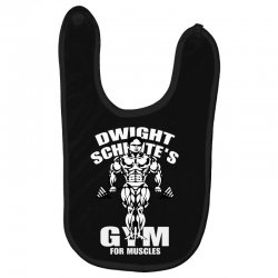 dwight schrute's gym for muscles Baby Bibs   Artistshot