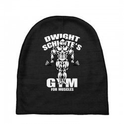 dwight schrute's gym for muscles Baby Beanies   Artistshot