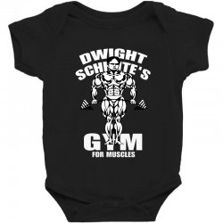 dwight schrute's gym for muscles Baby Bodysuit   Artistshot