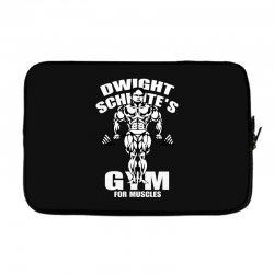 dwight schrute's gym for muscles Laptop sleeve   Artistshot