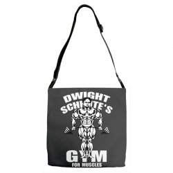 dwight schrute's gym for muscles Adjustable Strap Totes   Artistshot