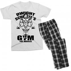 dwight schrute's gym for muscles Men's T-shirt Pajama Set | Artistshot