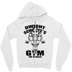 dwight schrute's gym for muscles Zipper Hoodie | Artistshot