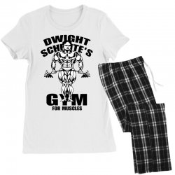 dwight schrute's gym for muscles Women's Pajamas Set | Artistshot