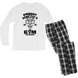 dwight schrute's gym for muscles Men's Long Sleeve Pajama Set | Artistshot