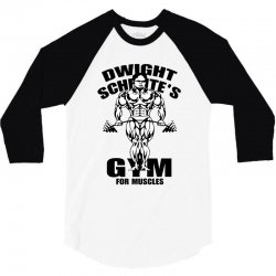 dwight schrute's gym for muscles 3/4 Sleeve Shirt | Artistshot