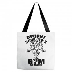 dwight schrute's gym for muscles Tote Bags | Artistshot