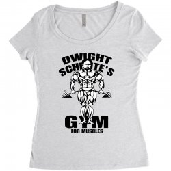 dwight schrute's gym for muscles Women's Triblend Scoop T-shirt | Artistshot