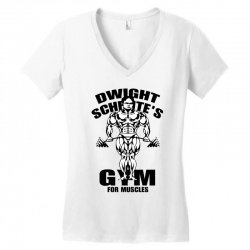 dwight schrute's gym for muscles Women's V-Neck T-Shirt | Artistshot