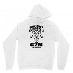 dwight schrute's gym for muscles Unisex Hoodie | Artistshot