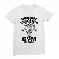dwight schrute's gym for muscles Ladies Fitted T-Shirt | Artistshot
