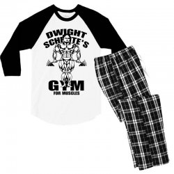 dwight schrute's gym for muscles Men's 3/4 Sleeve Pajama Set | Artistshot