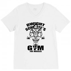 dwight schrute's gym for muscles V-Neck Tee | Artistshot