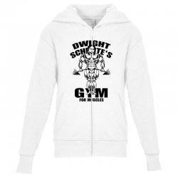dwight schrute's gym for muscles Youth Zipper Hoodie | Artistshot