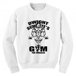 dwight schrute's gym for muscles Youth Sweatshirt | Artistshot