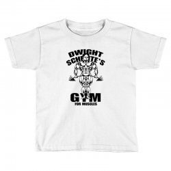 dwight schrute's gym for muscles Toddler T-shirt | Artistshot