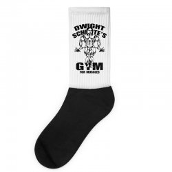 dwight schrute's gym for muscles Socks | Artistshot