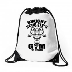 dwight schrute's gym for muscles Drawstring Bags | Artistshot