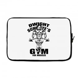 dwight schrute's gym for muscles Laptop sleeve | Artistshot