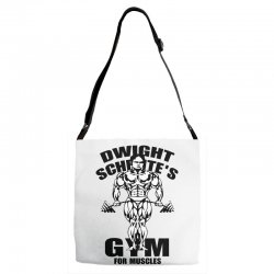 dwight schrute's gym for muscles Adjustable Strap Totes | Artistshot
